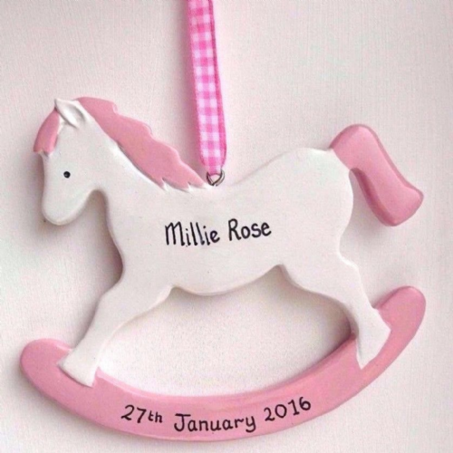 Personalised Rocking Horse in Pink